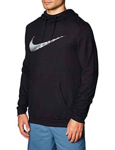 Nike M NK Dry Hoodie PO Swoosh Sweat-Shirt Homme Black FR: S (Taille Fabricant: S)