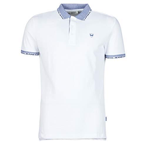 Kaporal DRAZI Polo Shirt Homme, Blanc, XL