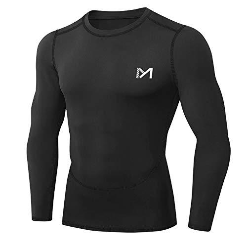 MEETYOO Tee Shirt Compression Homme Manche Longue, Baselayer Maillot Running Vetement Fitness...