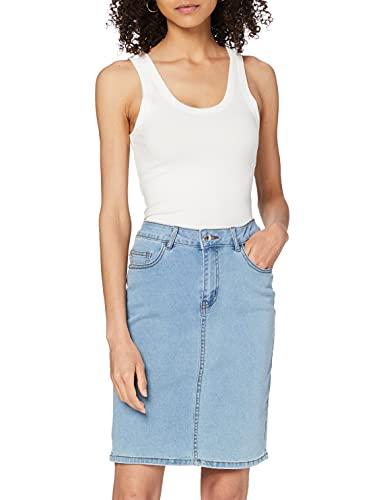 Vero Moda VMHOT Nine HW DNM Pencil Skirt GA Noos Jupe, Bleu Jeans Clair, M Femme