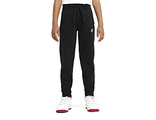 Nike Sportswear Club Fleece Pantalon De Jogging Garçon, Noir Blanc, M