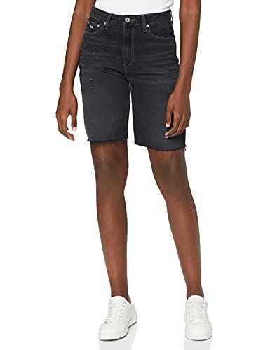 Tommy Jeans Harper Denim Bermuda SSPBBRD Shorts en Jean, Save SP BK BK Rgd Destr, NI30 Femme