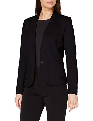 TOM TAILOR Basic Jersey Blazer, Noir (14482-Deep Black), M Femme