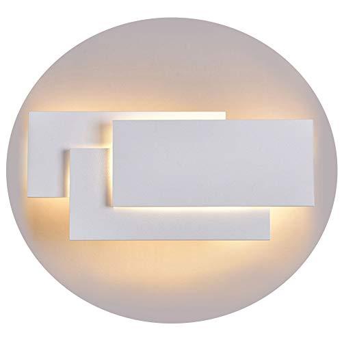 Ralbay Applique Murale Intérieur, Moderne LED Applique Blanc 24W, IP20, Non Dimmable, Designe Aluminium Eclairage Décoratif Lumière pour Chambre Couloir Salon Salle Bureau, Blanc Chaud
