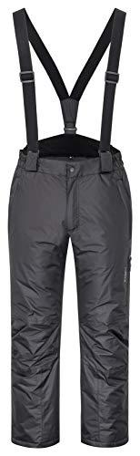 icefeld Pantalon de ski/snowboard pour homme - Imperméable et coupe-vent - Noir - W52
