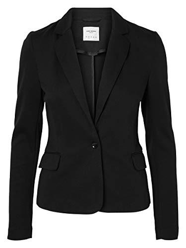 Vero Moda Vmjulia Ls Blazer Dnm Noos, Veston Femme, 38, Noir (Black Black), 36