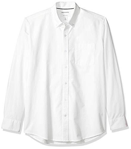 Amazon Essentials Chemise en oxford, manches longues, pour homme, coupe régulière, Blanc (White Whi), US L (EU L)