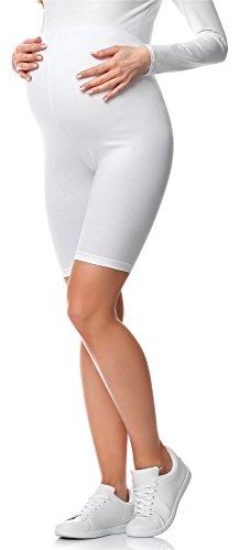 Be Mammy Legging Court Grossesse Maternité Tenue Sport BE20-228(Blanc, M)