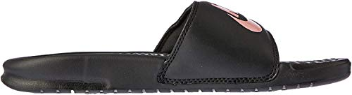 Nike WMNS Benassi JDI, Chaussures de Sports Aquatiques Homme, Multicolore (Black/Rose Gold...