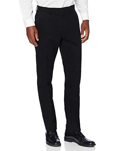 Marque Amazon - find. Pantalon de Tailleur Slim en Coton Homme, Noir (Black), 32W / 32L, Label:...