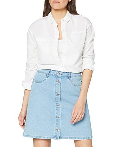 Only NOS Onlfarrah Reg DNM Skirt Bj14427 Noos Jupe, Bleu (Light Blue Denim Light Blue Denim), 38 (Taille Fabricant: 36.0) Femme