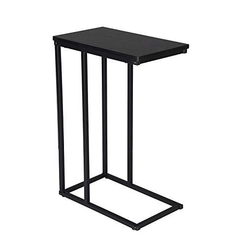 WOLTU® Table Bout de canapé de Salon Table d'appoint en métal et MDF, 45x25x63,5cm, Noir TSG17sz