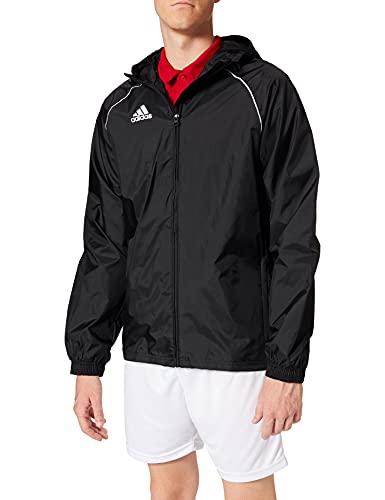 adidas Core 18 Rain Jacket Veste Imperméable Homme Black/White FR: M (Taille Fabricant: M)