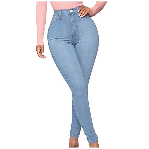 Betory Pantalons Stretch Femme Jeggings Skinny Fit Push Up Femme Taille Haute DéLavé Jeans Pantalon Crayon Casual DéContracté Shaping Jogging Yoga ÉTé Chic Mode Jeans