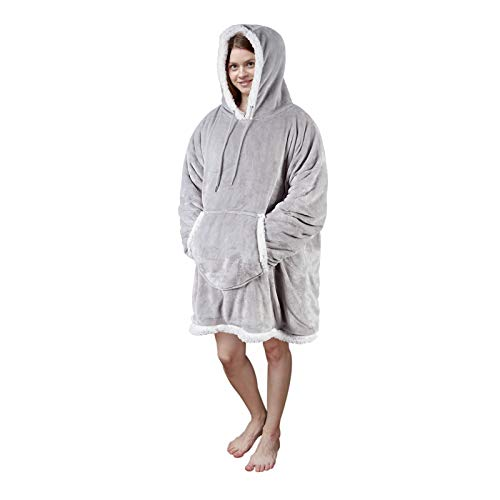 Viviland Sweat à capuche en sherpa doux et chaud avec grande poche frontale - pour adulte -...