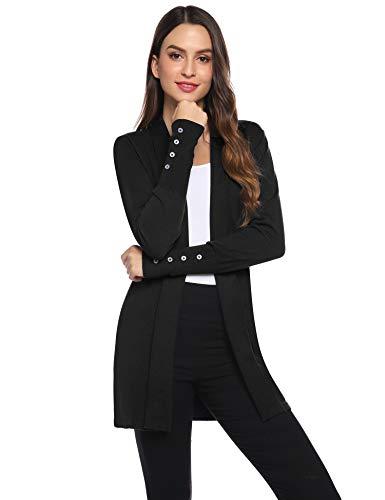 Gilet Femme Tricot Veste Longue Femme Cardigan Long Manches Longues Casual Ouvert Hiver Automne...
