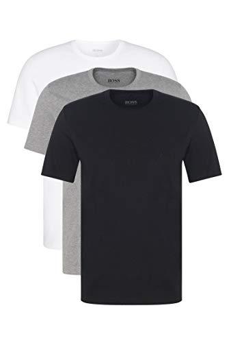 BOSS Hommes T-Shirt RN 3P CO Lot de Trois t-Shirts en Coton