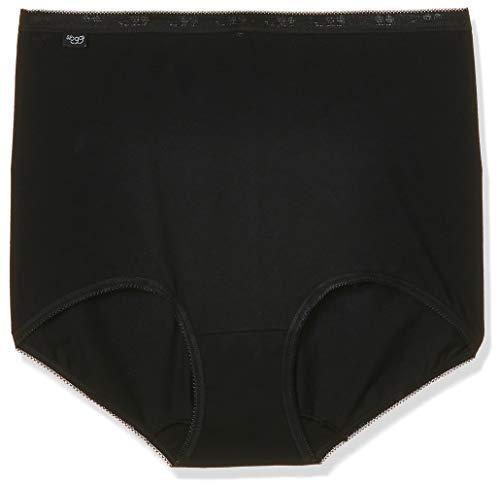 sloggi Basic+ Maxi 3P, Culotte Gainante Femme, Paquet de 3, Noir (BLACK 0004), 42 FR