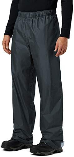 KOUDYEN Pantalon Pluie Homme Imperméable Pantalon Randonnee Marche Moto Outdoor YK5415M-Grey-L