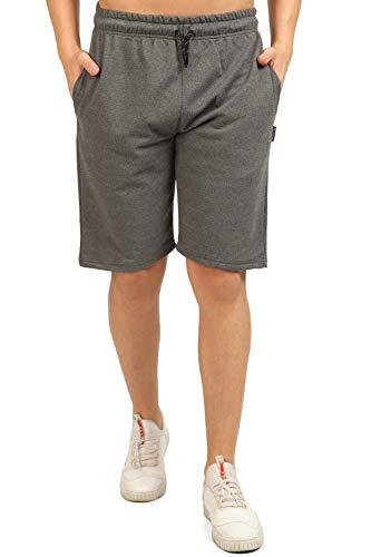 Comeor Pantalon de sport court pour homme, Short de jogging pour homme, Short de course pour homme, Short d'été en coton, Bermuda, Pantalon de fitness, Pantalon de tennis, gris foncé, XL prix et achat