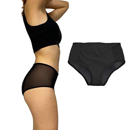 Culotte Menstruelle - Capeebara - Shorty Menstruel - Flux Important - SHORTY Absorbant Règles - Rosie le Shorty (S/36, A l'unité)