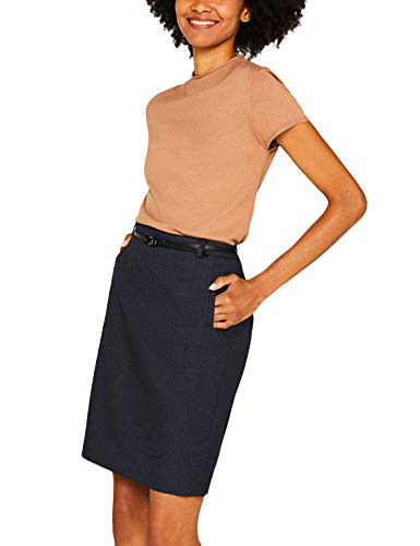 ESPRIT Collection 999eo1d803 Jupe, Bleu (Navy 5 404), 42 (Taille Fabricant: 40) Femme