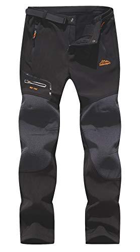 BenBoy Homme Pantalon Softshell Imperméable Pantalon Randonnée Thermique Étanche Coupe-Vent...