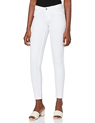 Only Onlultimate King Reg Jeans Cry1703 Noos Skinny, Blanc (White), W38/L30 (Taille Fabricant: Medium) Femme