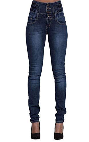 Pantalon Femme Jean Denim Taille Haute Skinny Slim Stretch Push Up Casual Vintage Jeans avec...