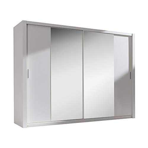 Selsey ORDU - Garde-Robe Portes coulissantes (Blanc/Miroir, 200...