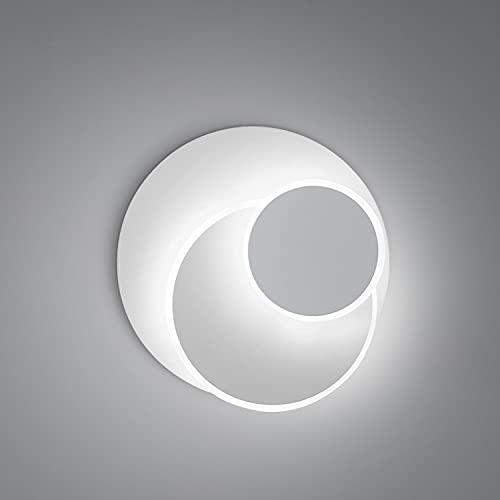 Kimjo Appliques Murales Interieur LED 15W, 350° Rotatif Lampe Murale, Créatif eclipse 3 en 1 Applique Murale, 6000K Blanc Froid Luminaires Intérieur pour Chambre Bureau Salon Salle Couloir Chevet
