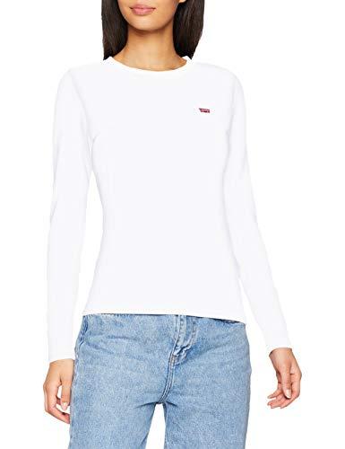 Levi's Relaxed Graphic Crew Sweat-Shirt - Femme - Blanc (White + 0000) - Medium