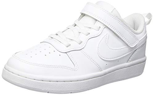 Nike Court Borough Low 2, Chaussures de Basketball, Blanc (White/White/White 100), 35 EU