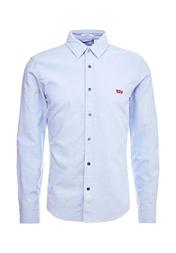 Levi's Ls Battery HM Shirt Slim Chemise Casual, Blue (Allure 0005), Medium Homme