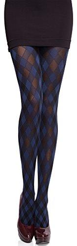 Merry Style Collant Opaque Lingerie Sexy Sous-vêtements Femme MS 317 60 DEN (Bleu Marine, L)