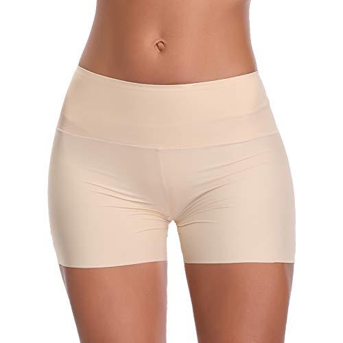 Joyshaper Shorty Femme Stretch Culotte Sculptantes Panty avec Ceinture Large Slip Confort Convient à Tout Type de Vêtement, Beige, M