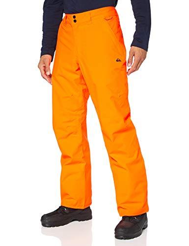Quiksilver Arcade-Pantalon de Snow/Ski pour Homme, Shocking Orange, FR : M (Taille Fabricant : M)