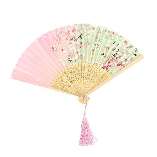Toyvian Fan de Papier éventail Japonais Fleurs de Cerisier...