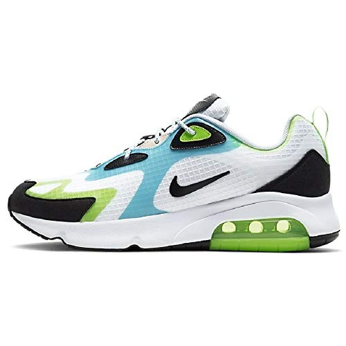 Nike Air Max 200 Se Hommes Running Trainers CJ0575 Sneakers Chaussures (UK 7.5 US 8.5 EU 42, White Black Electric Green 101)