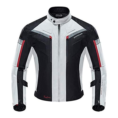 Zyxformis Veste de Moto, Blouson Moto Homme Sport avec Armure pour l'automne Hiver toute la...