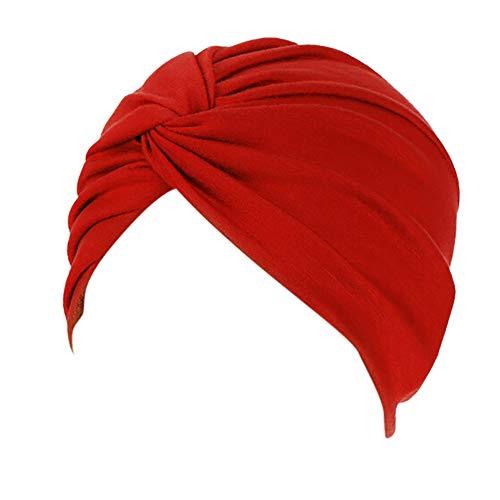IMJONO Chapeau de Chimiothérapie Femme, Mode Couleur Unie Bonnet Chimio Turban Musulmanes...