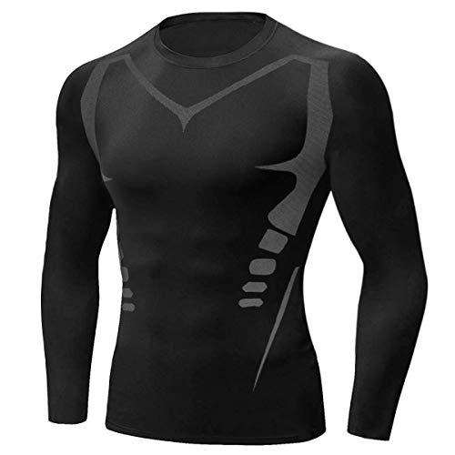 Sykooria Tee Shirt de Sport Compression Homme Séchage Ultra Rapide T-Shirt à Manche Longue de...