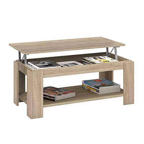 Habitdesign 001639F - Table basse relevable Habitdesign avec...