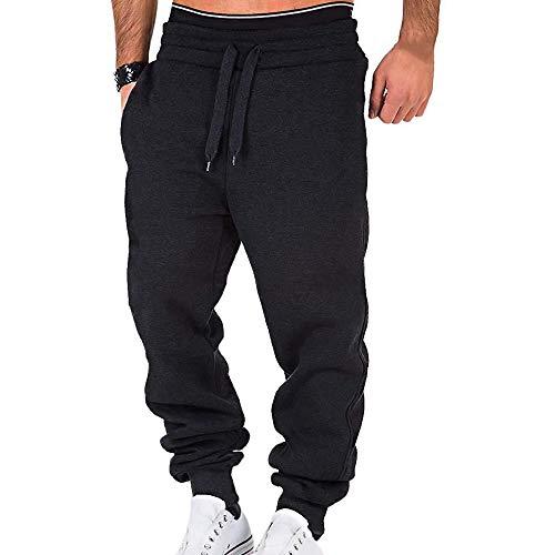 laamei Homme Pantalons de Sport Casual Jogging Bas de Survêtement Sweat Pants Sarouel Sport...