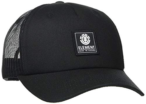 Element Icon Mesh-Casquette Snapback pour Homme, All Black, FR Unique Fabricant : Taille One sizeque