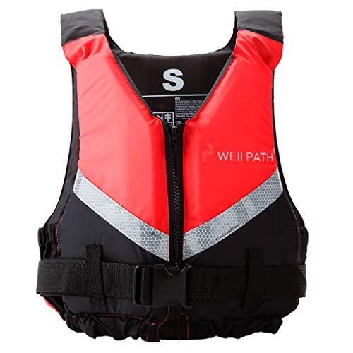Gilet de Bain Adulte, Aide à la flottabilité avec flottabilité de Natation à Boucle réglable pour la pêche aux Sports Nautiques, Le Surf, la plongée, Le Rafting, Le Kayak