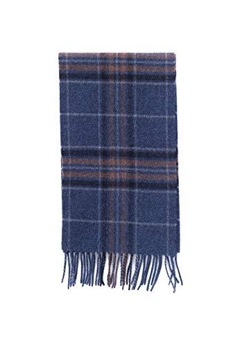 Brooks Brothers - Écharpe homme en laine écossaise bleu et marron