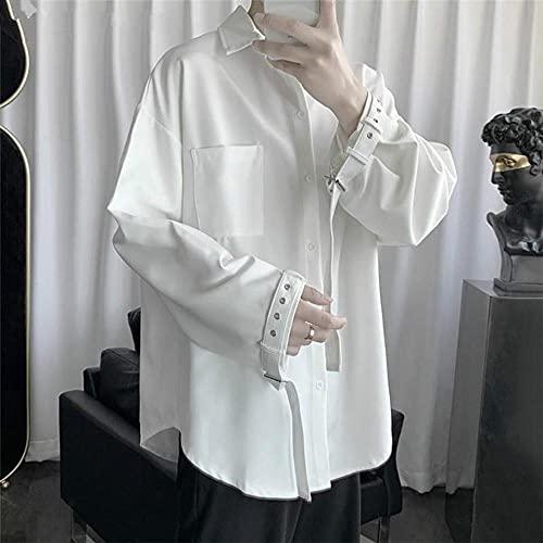 KAL'ANWEI Harajuku Pure Blanche Pure Manche De Chemise des Femmes Femmes pour Les Femmes Hommes Japonaise High School Shirt Loose Couple Couple Streetwear Chemise-Blanche_XXL prix et achat