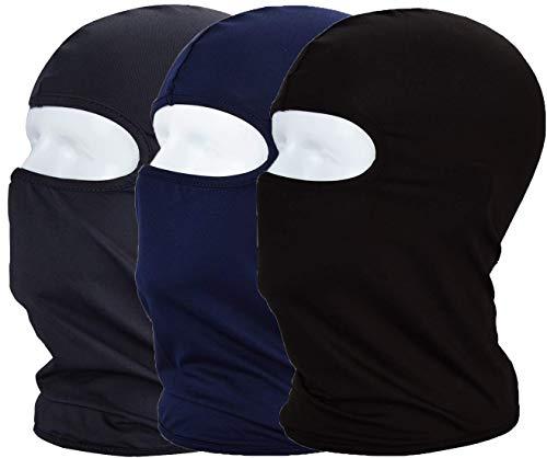 MAYOUTH Protection UV Cagoule de Cyclisme Masque léger Mince en Lycra Tissu Coupe-Vent Respirant Sports d'extérieur Masque Complet 3-Pack