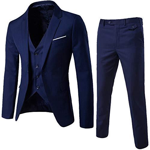 MORCHAN Costumes Slim Costume 3 pièces Blazer de soirée de Mariage Affaires Veste Veste et...